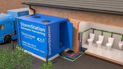 StormStation rainwater harvesting