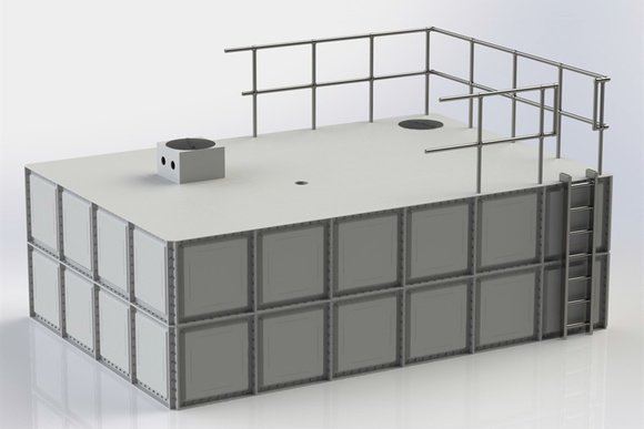 Above Ground Sectional Water Harvesting Storage Tank