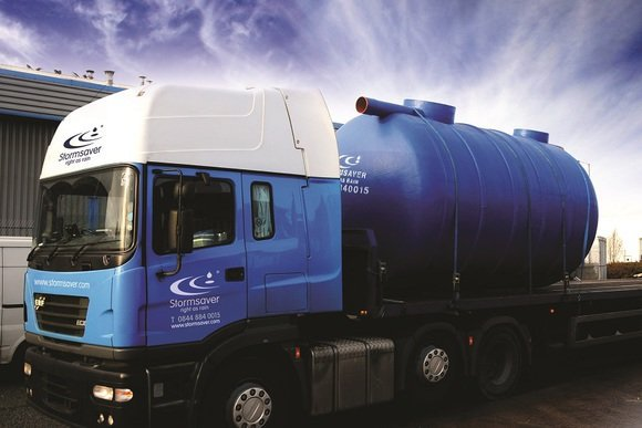 Stormsaver Lorry Carrying Rainwater Harvesting System