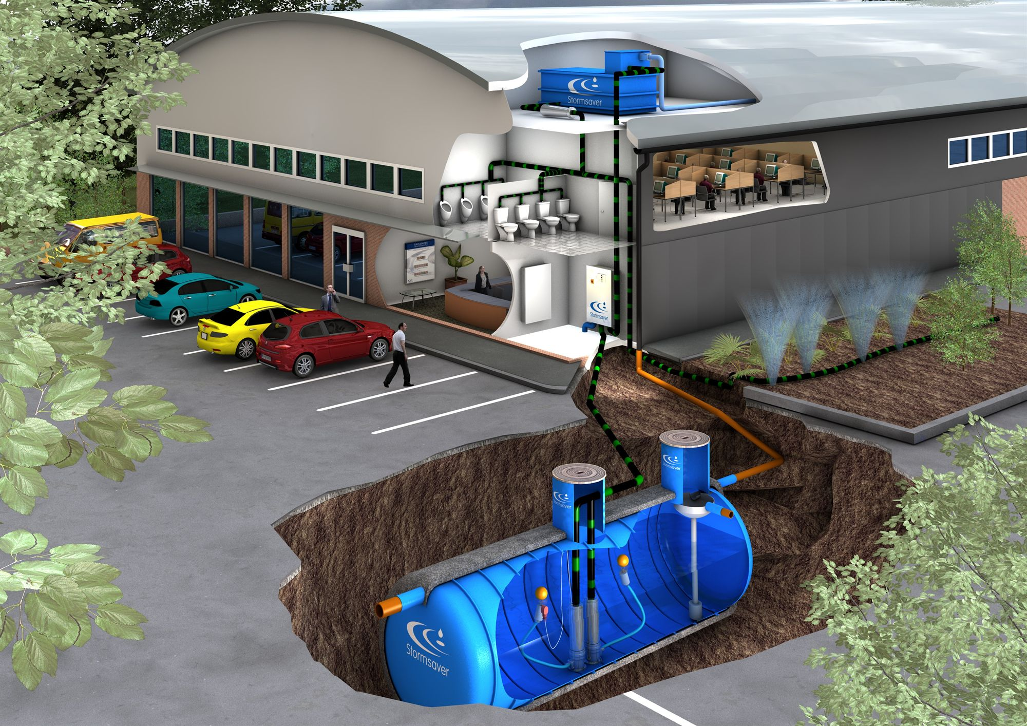 commercial rainwater tank